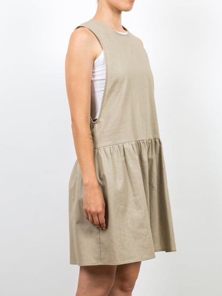 Saddle Romper / Tan Linen