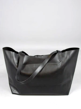 Vagabond - Gothenburg Leather Tote / Black