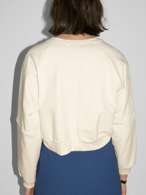 Dean Organic Seamed Sweatshirt / Natural