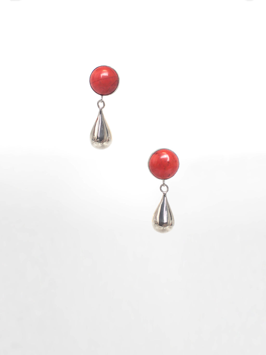 Talisman Drop Earring / Red Jasper