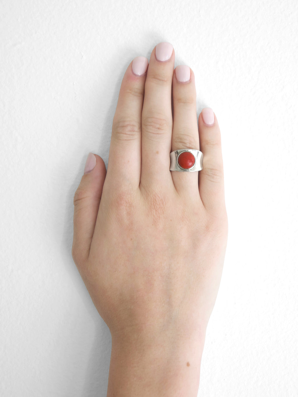 Talisman Concave Ring / Red Jasper