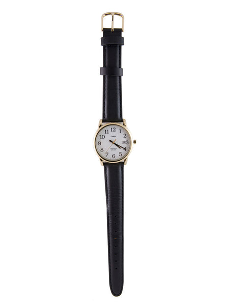 Timex - Indiglo Leather Watch / Large / Black