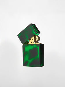 Tsubota Pearl - Hard Edge Lighter / Green Marble