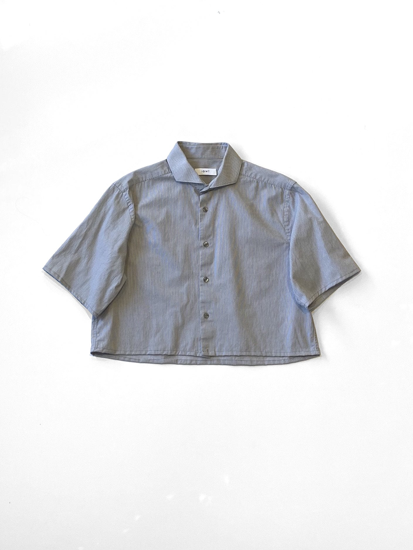 UP! - Reworked Button-Down Shirt  / Grey Pincord