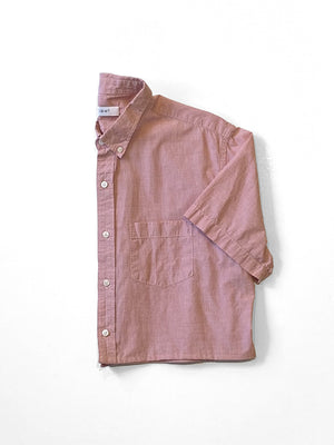 UP! - Reworked Button-Down Shirt  / Red