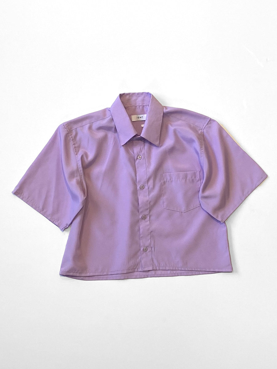 UP! - Reworked Button-Down Shirt  / Lilac