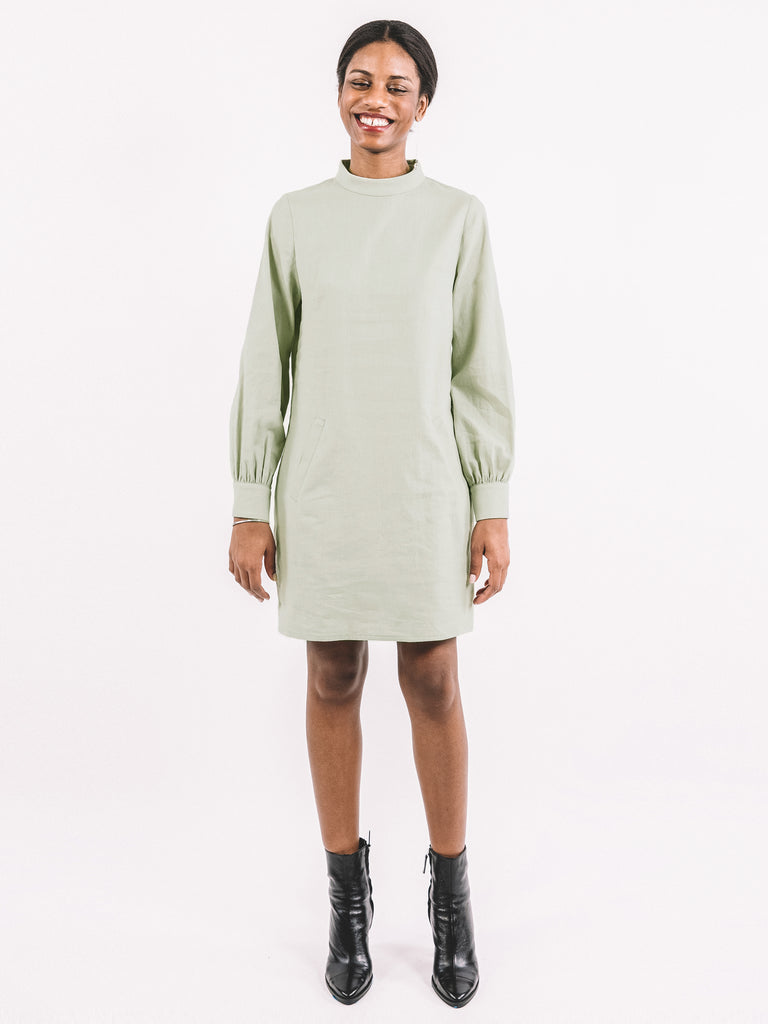 Valerie Dress / Sage Washed Cotton