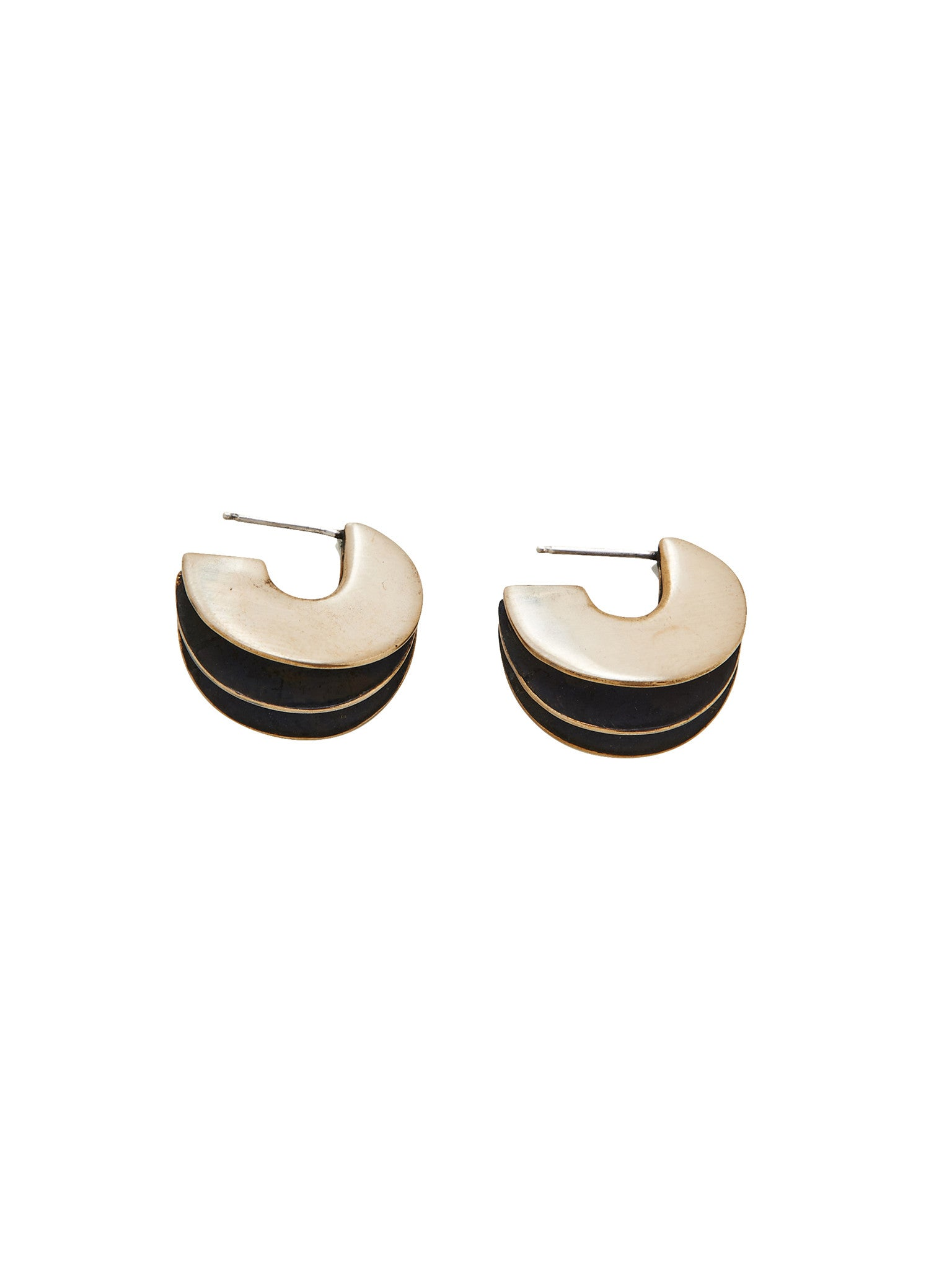 Wave Earrings / Brass