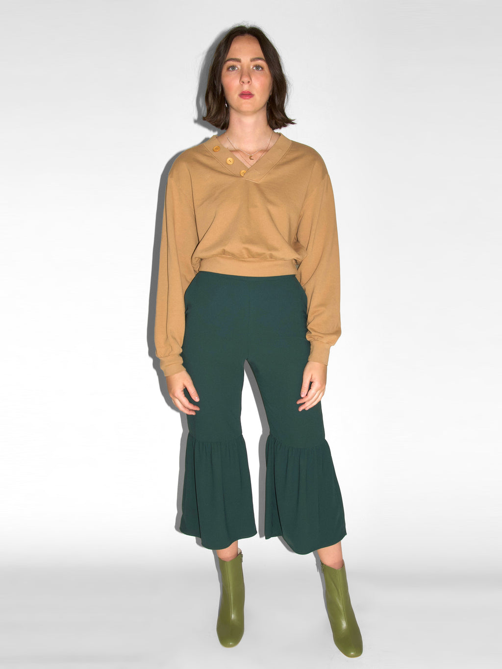 Andy Pants / Green Georgette