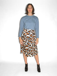 &Another - Tiphanie Midi Skirt / Leopard