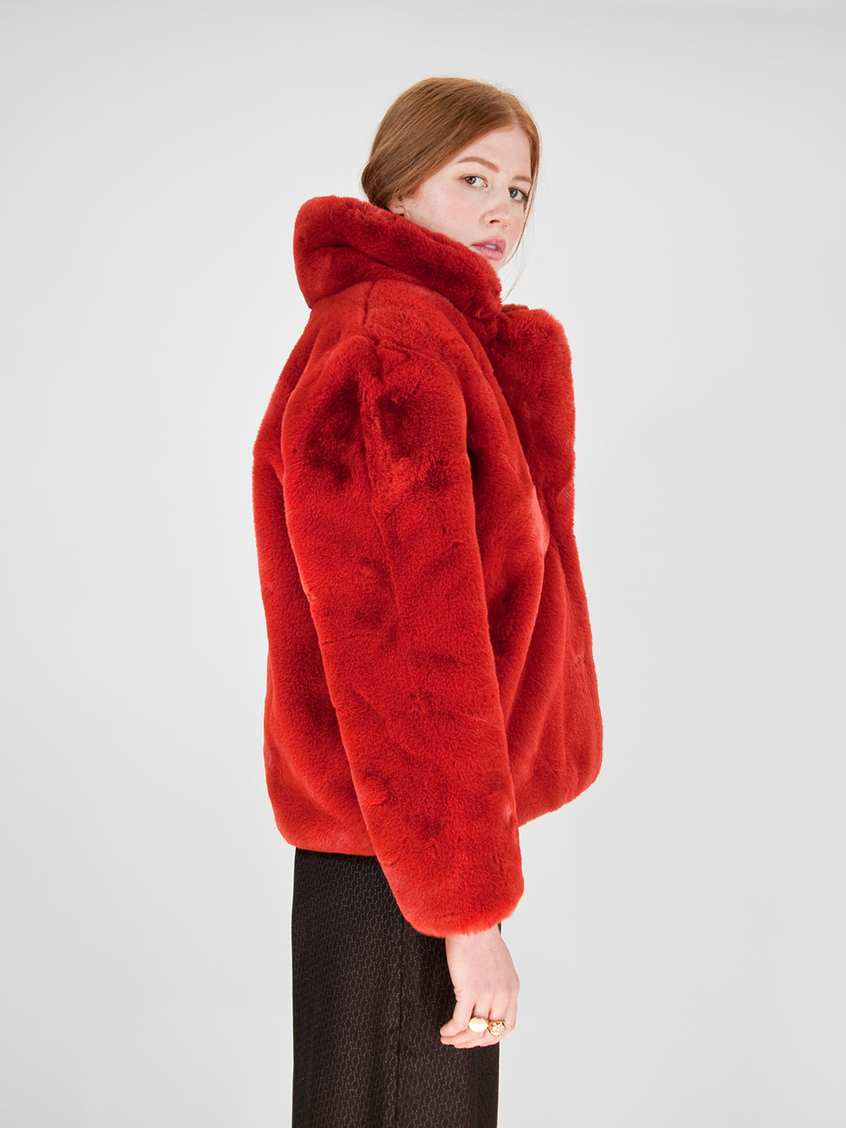 Apparis - Manon Faux Fur Coat / Ginger