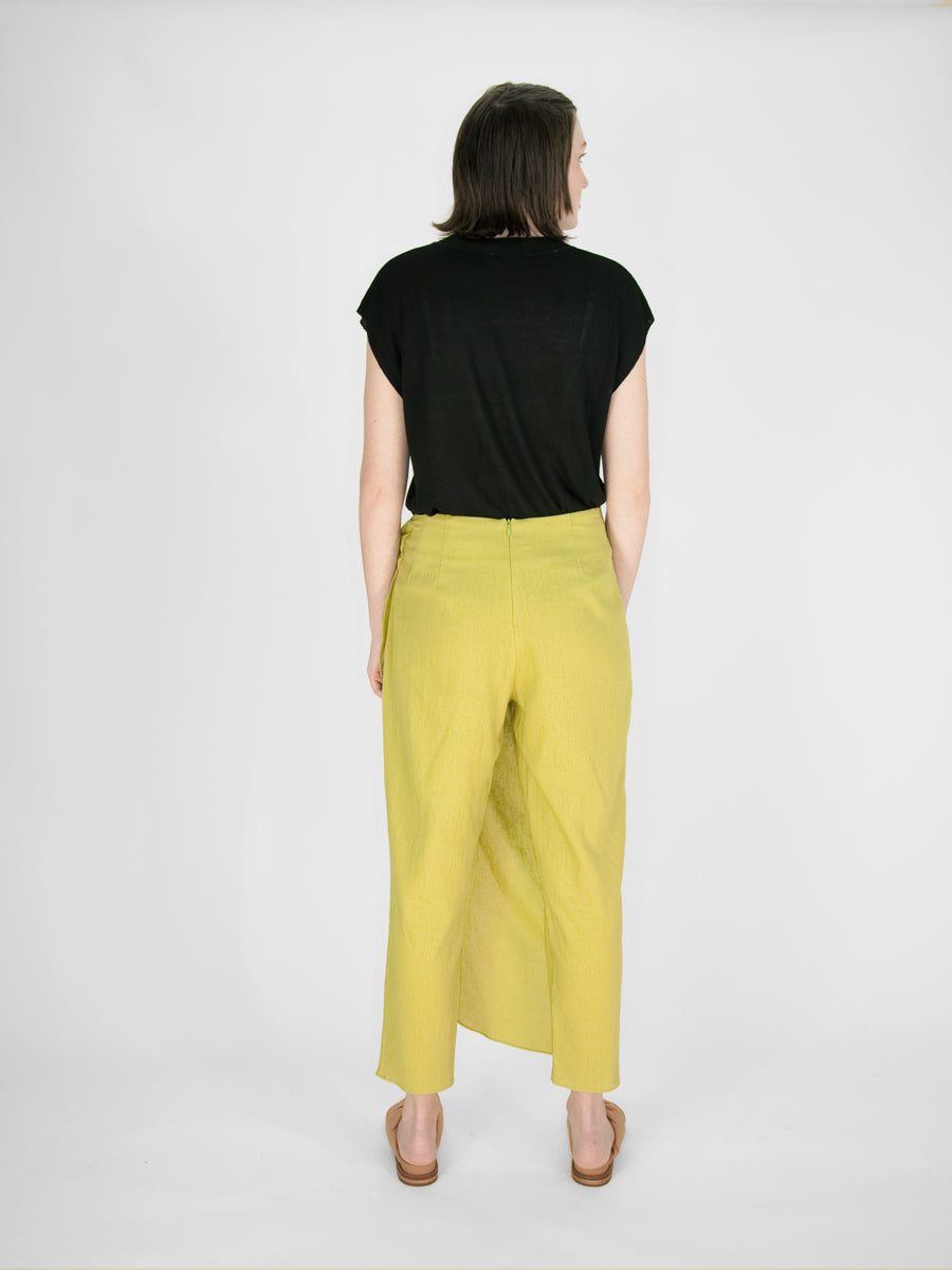 Argus Wrap Pants / Pear Linen