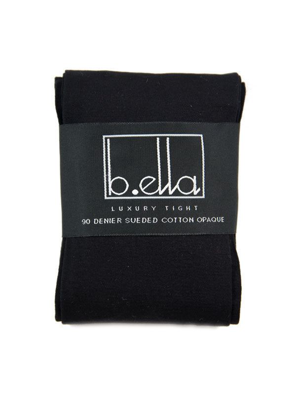 B.ella - Erika Cotton Sueded Tights / Black