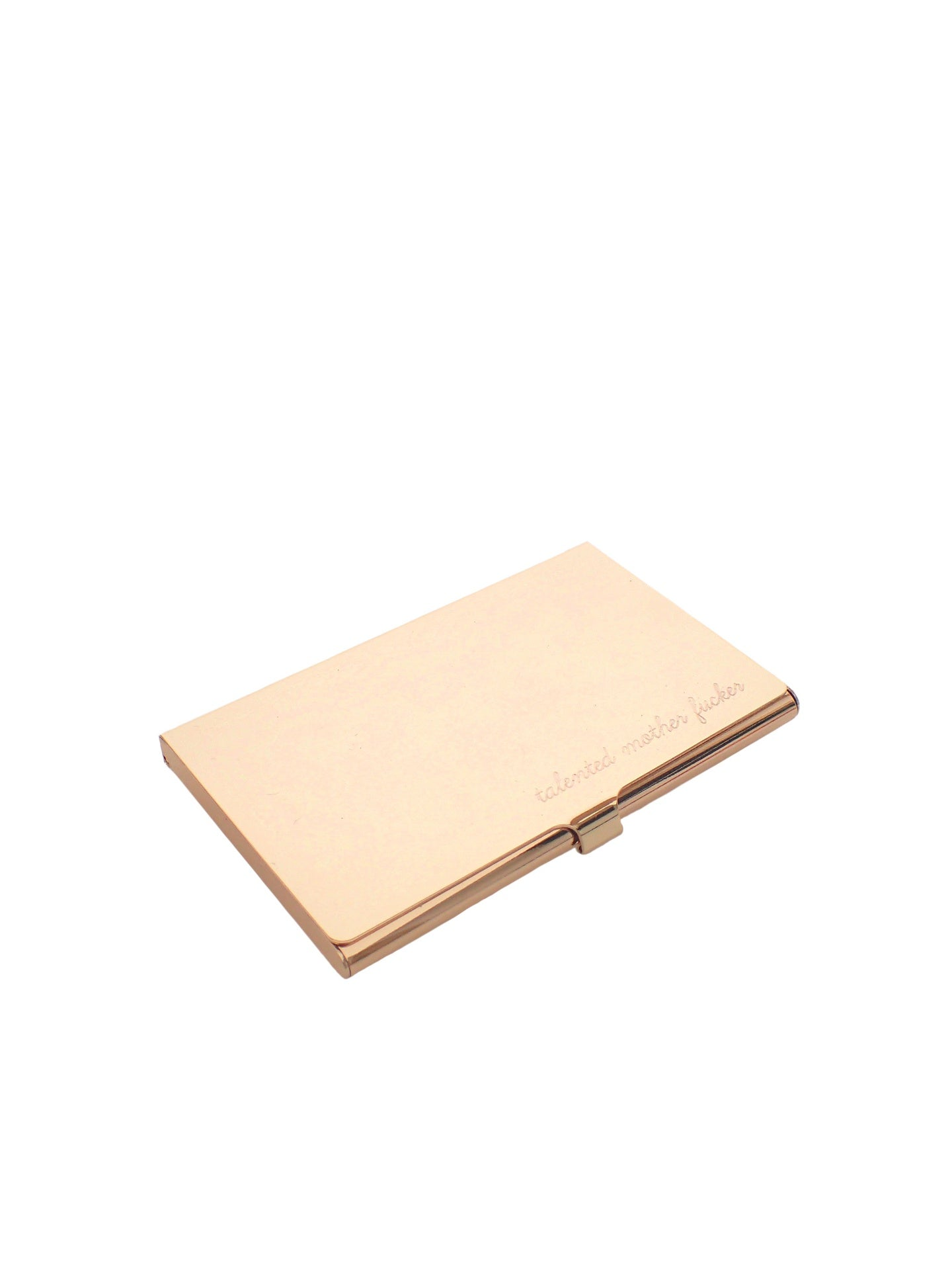IGWT - Card Case / talented mother fucker / Gold Tone