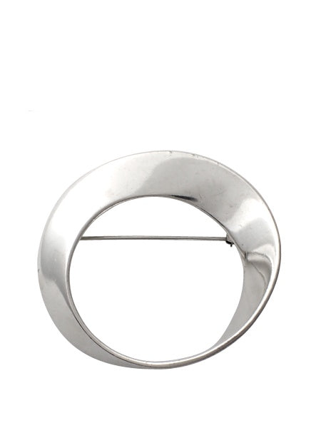 Vintage - Inverted Circle Pin / Sterling Silver