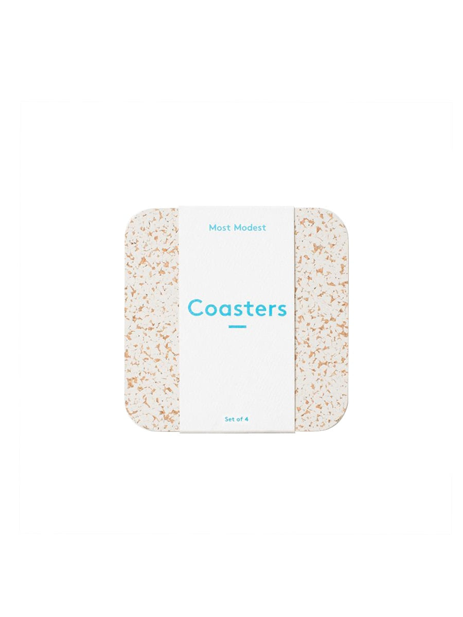 Most Modest - Coasters / White / Set of 4