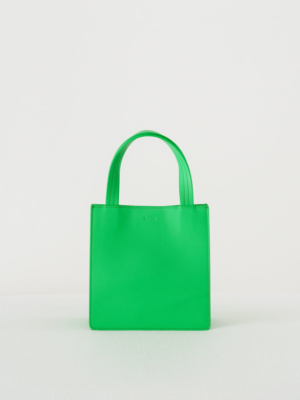 Baggu - Small Leather Retail Tote / Leaf