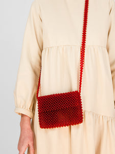 Beaded Bag / Cherry