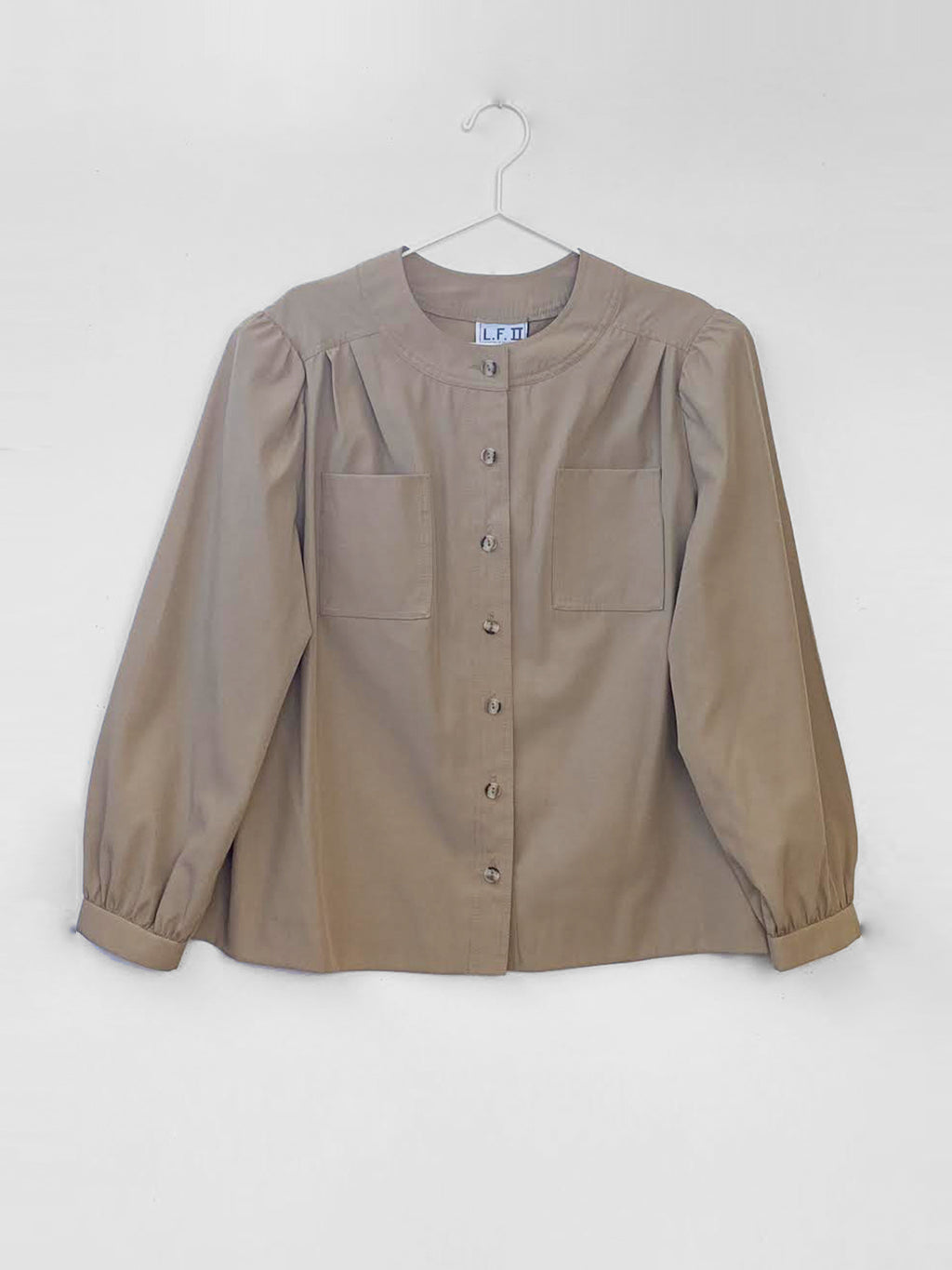 IGWT Vintage - Puff Sleeve Button Down / Beige