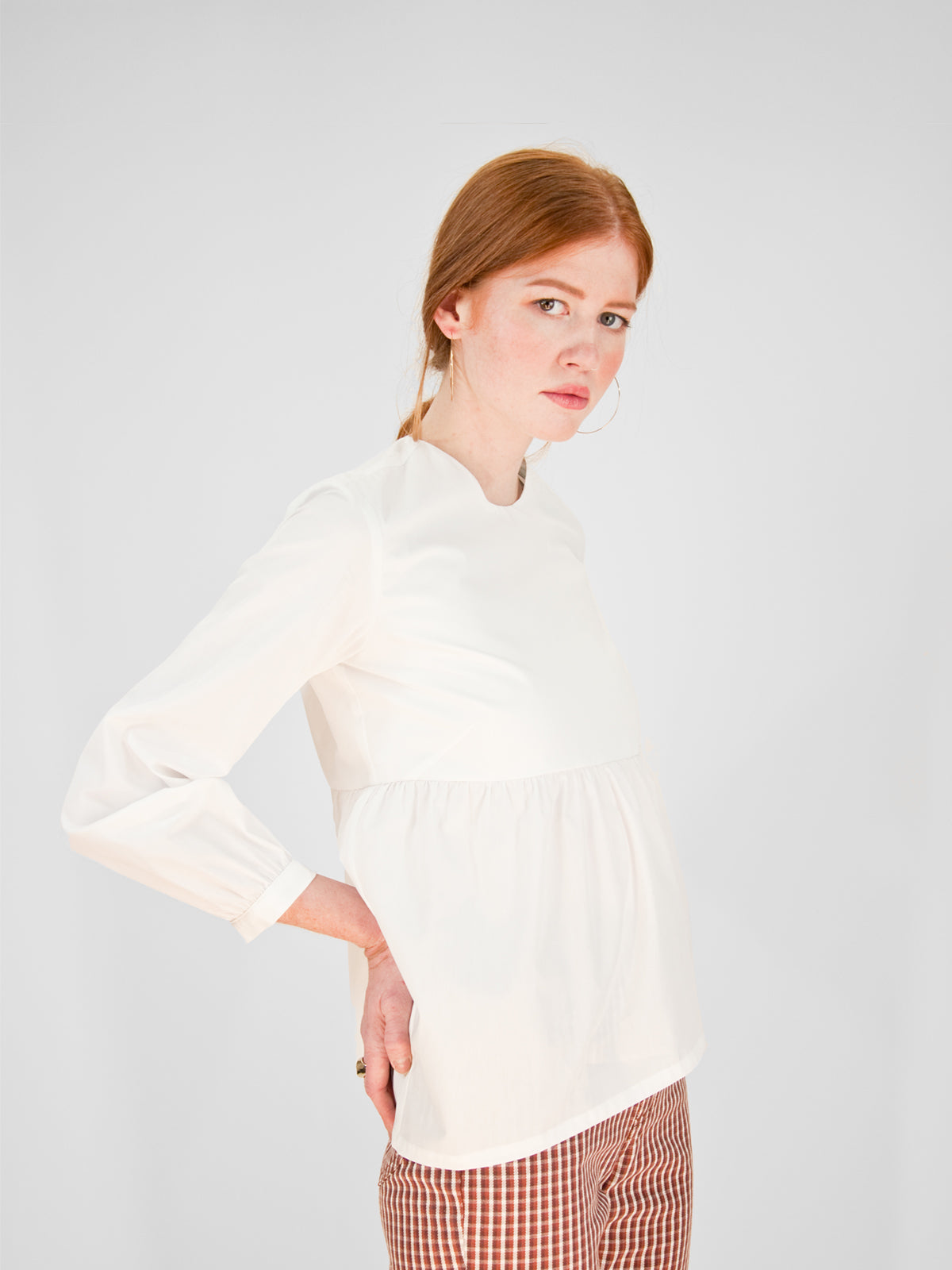 Beth - Daisy Top / White Cotton