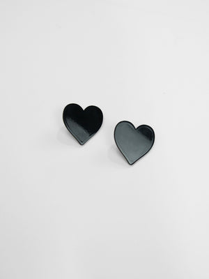 Big Love Earrings / Black