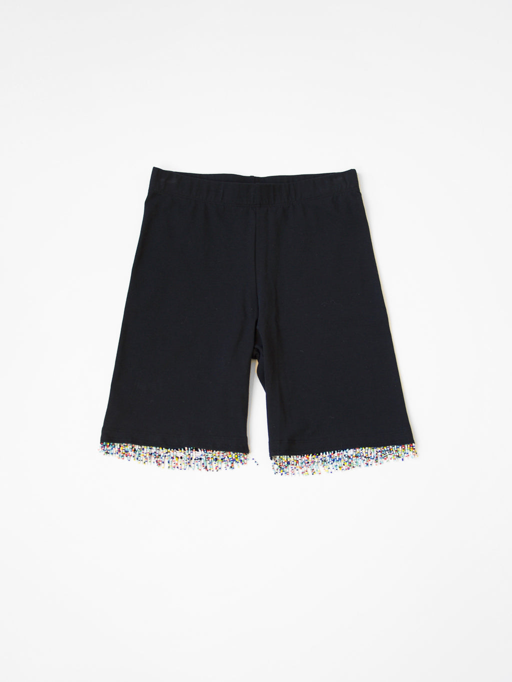 Beth - Beaded Bike Short / Black