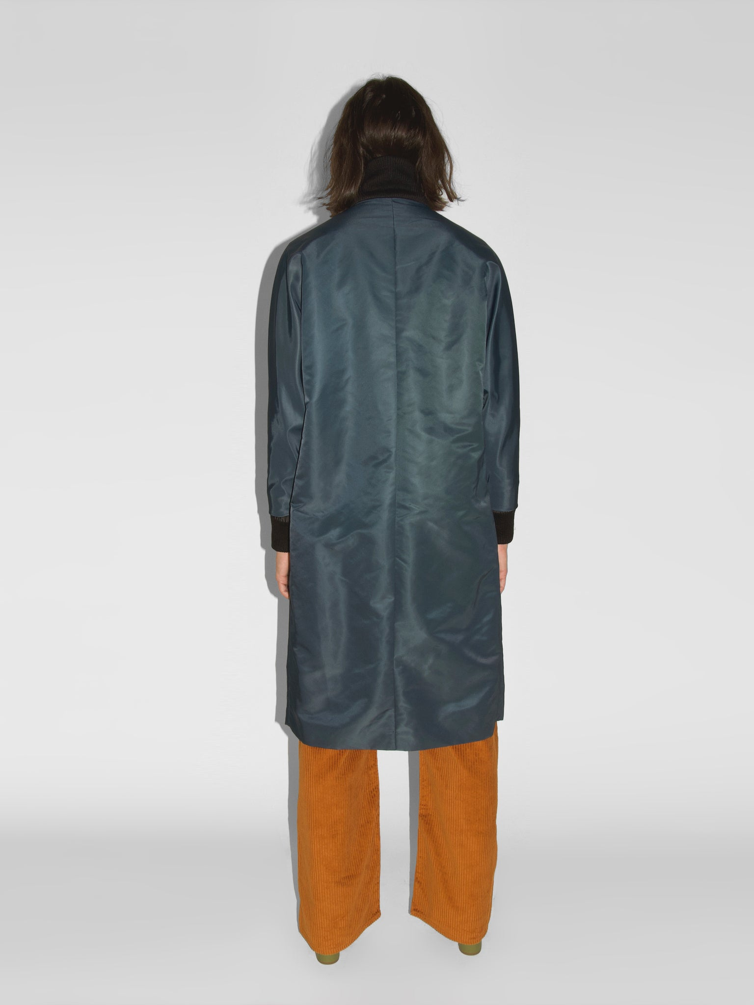 Blob Coat / Navy Flight Satin
