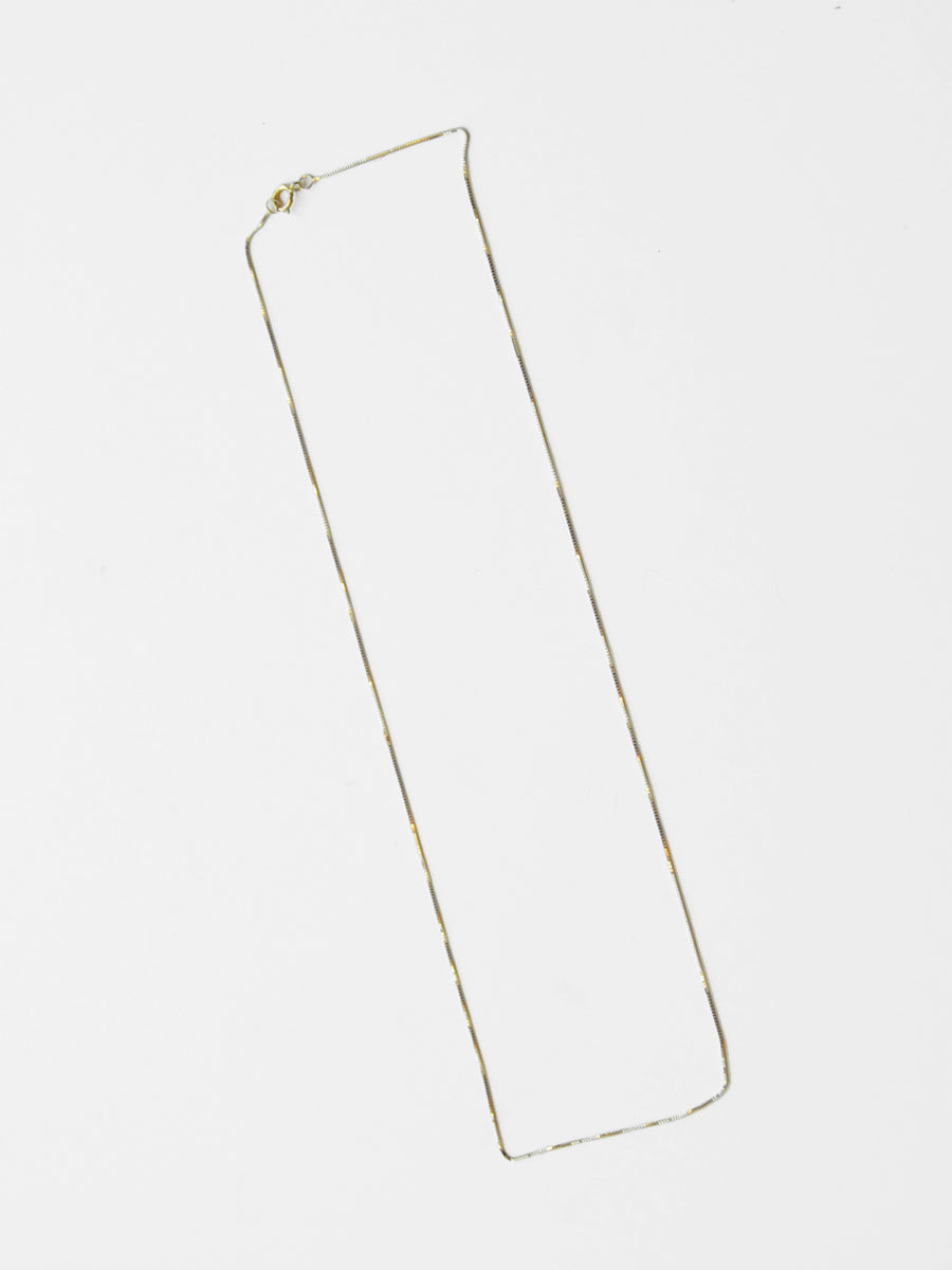 Box Chain / 14K Yellow Gold / .5mm
