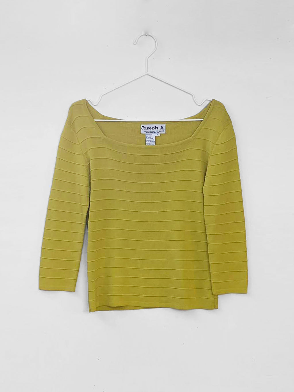 IGWT Vintage - Ribbed Knit Top / Chartreuse