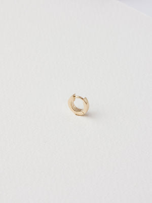 Marjory Clicker Hoop / 9mm / 14k Yellow Gold