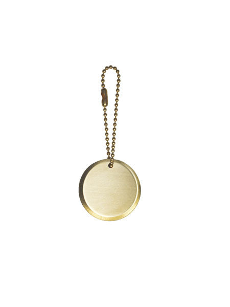 Circle Plaque Keychain / Brass