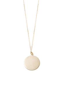 Circle Pendant Necklace / Gold