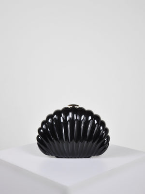 Clam Shell Clutch / Black