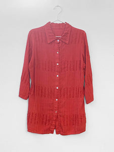 IGWT Vintage - Textured Button Down / Coral