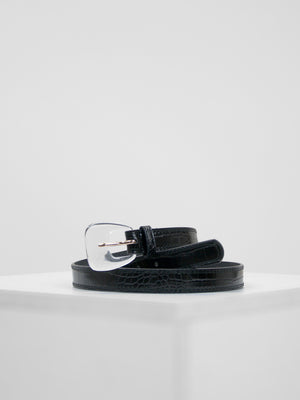 Petit Moments - Croc Belt / Black