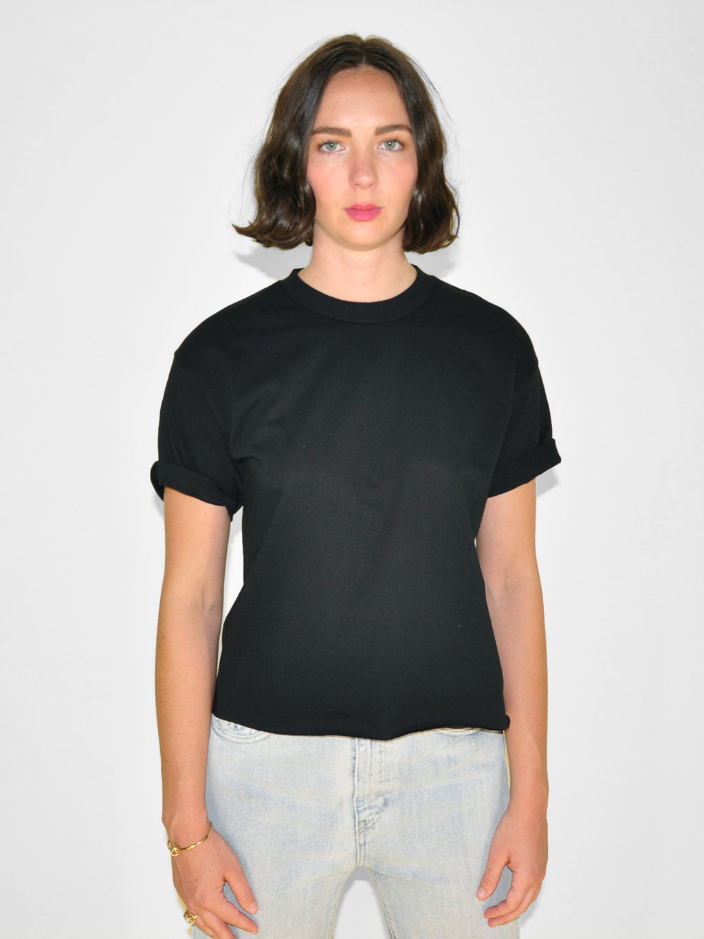 IGWT - Cropped Crew Tee / Black