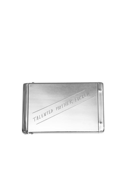 IGWT - Flip Top Card Case / Talented Motherfucker (old) / Silver