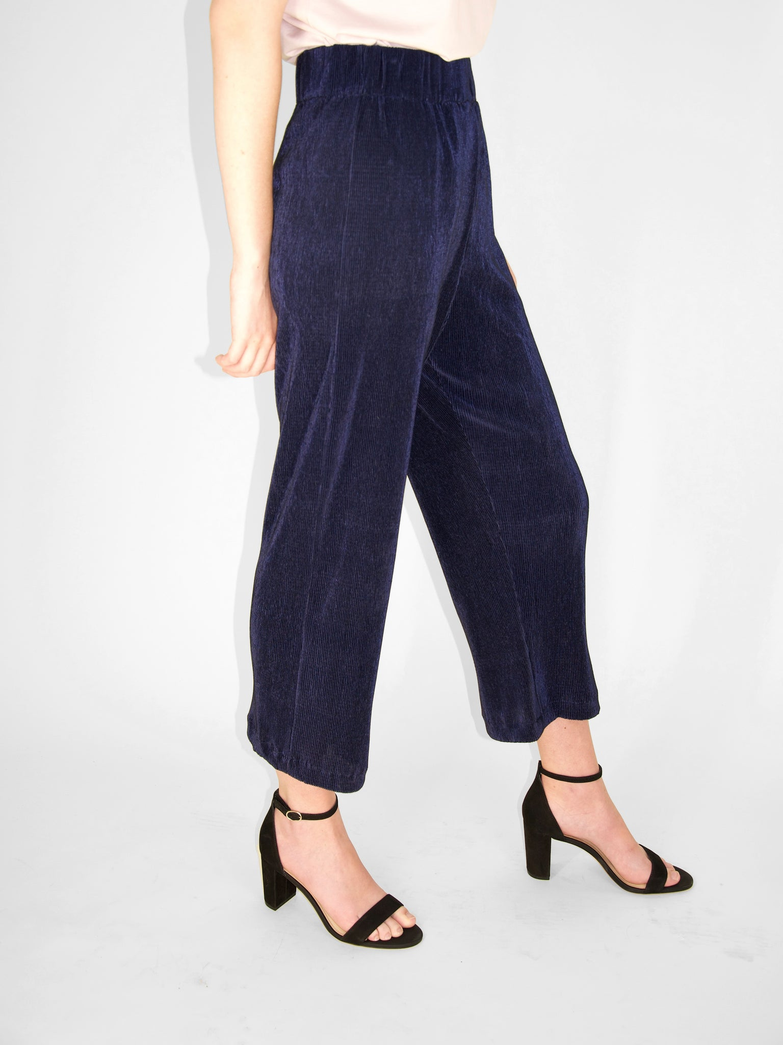 Beth - Deck Pants / Navy Crinkle