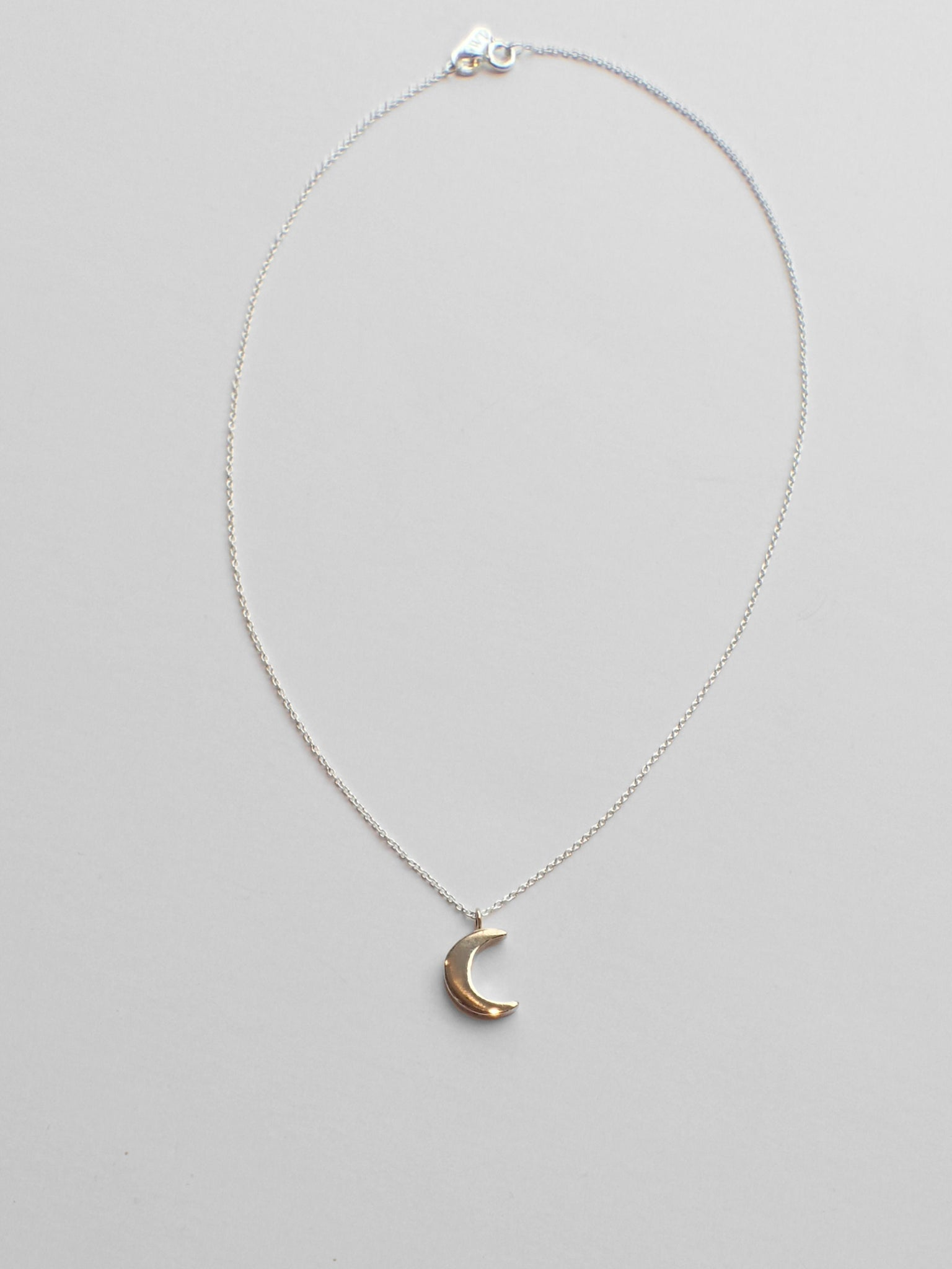 Demilune Necklace / Brass & Silver