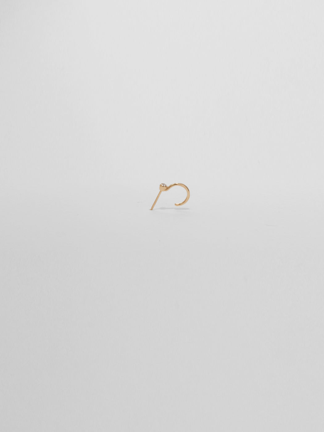 Marion Hoop / Diamond / 14Kt Yellow Gold
