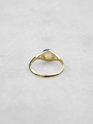 Dylan Ring / Gold with Opal
