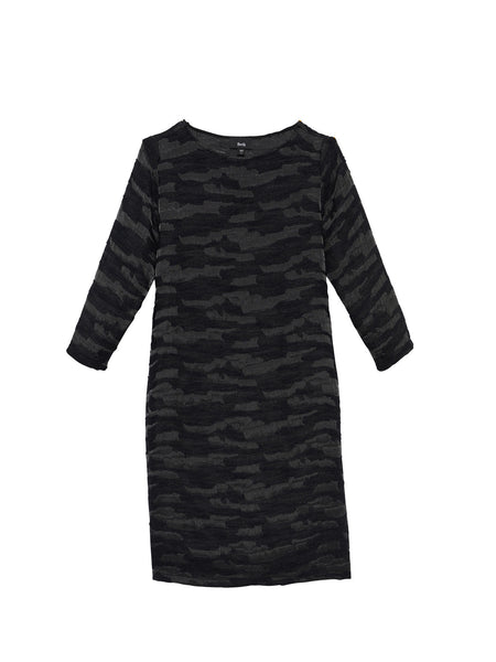 Beth - Port Dress / Black Jacquard