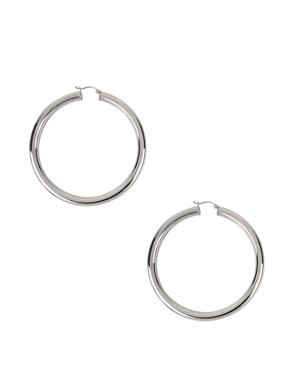 Tube Hoops / Silver / Large