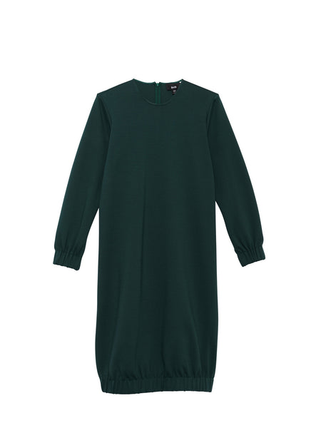 Beth - Bridge Dress / Green Ponte