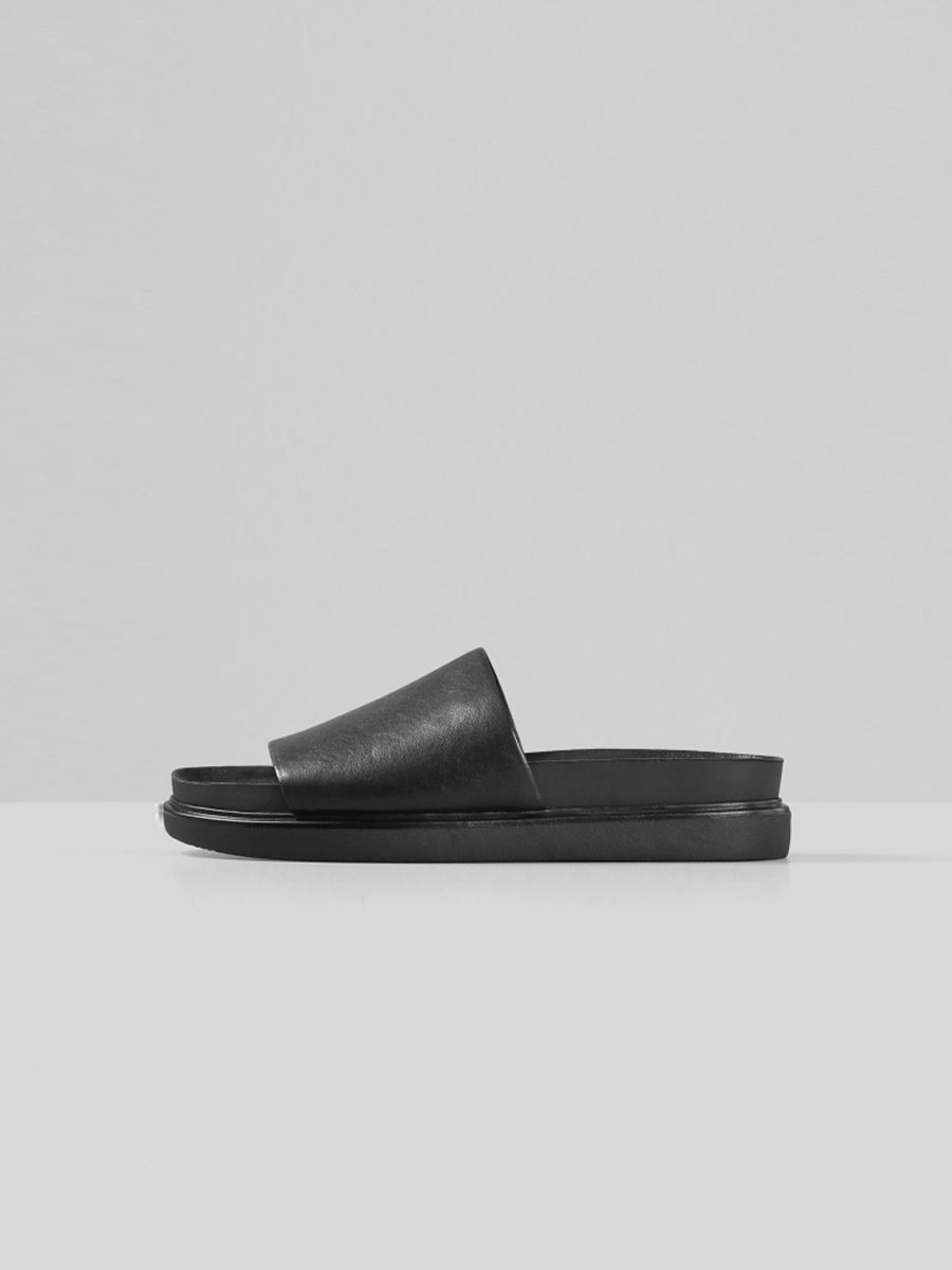 Vagabond - Erin Leather Slides / Black