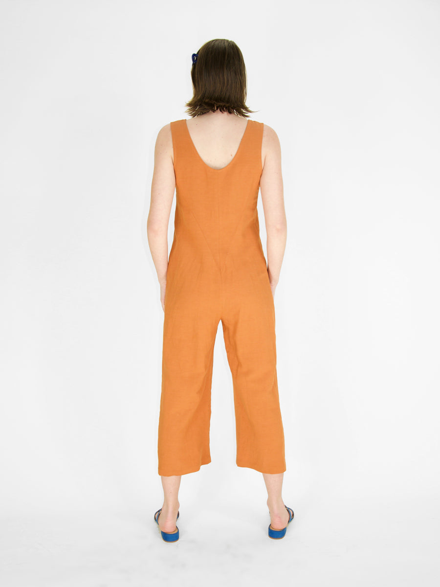 Eve Gravel - Midi Jumpsuit / Terracotta