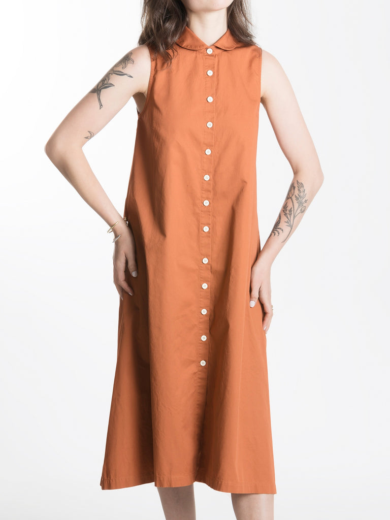 Bossa Dress / Rust Combed Cotton