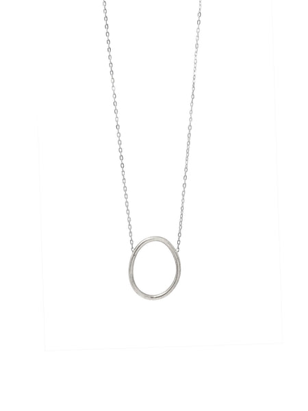 Cory Long Necklace / Silver