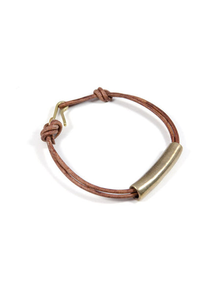 Wednesday Leather Bracelet / Brass / Brown