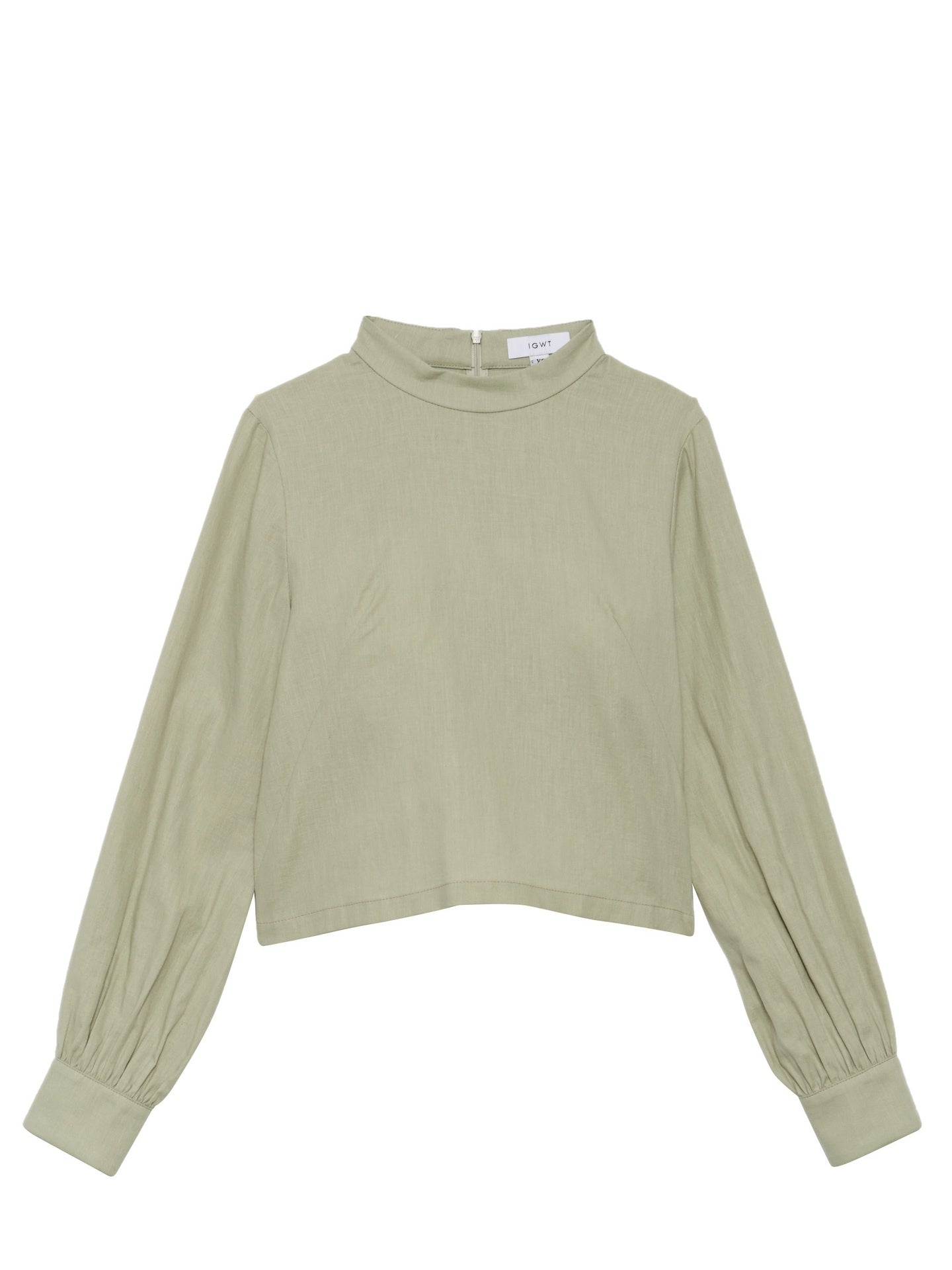 Valerie Top / Sage Washed Cotton